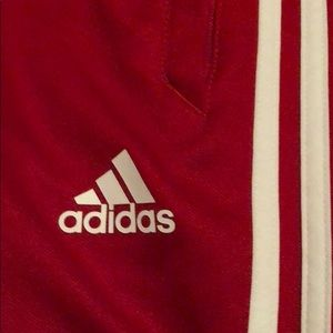 Kids Sized Red Adidas Sweats